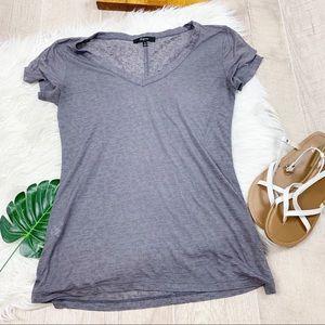 Express Short Sleeve Gray Burnout T-shirt D1234